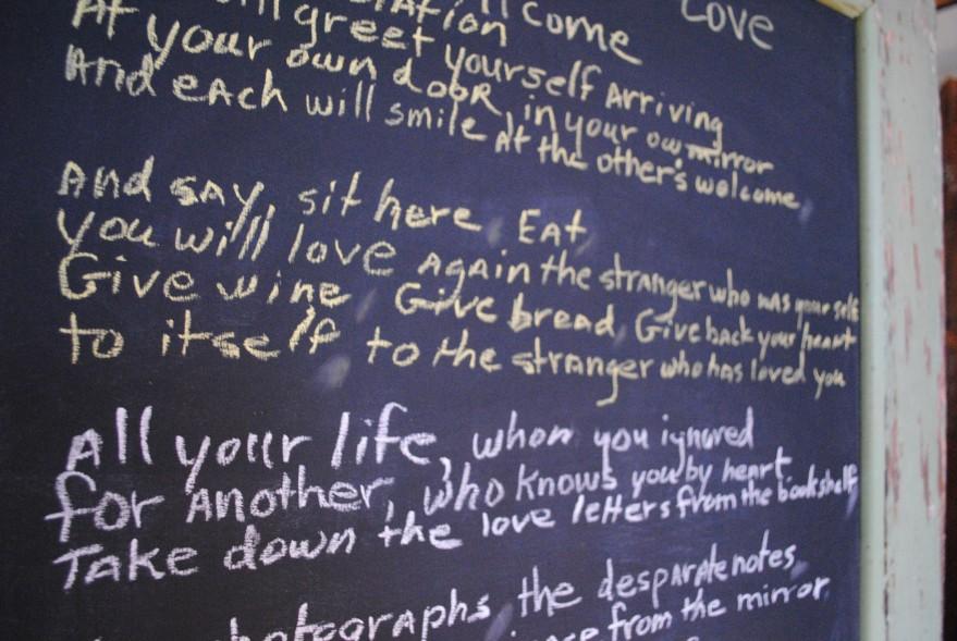 poem by Derek Walcott