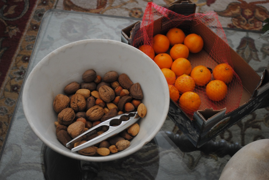 mixed nuts and clementines
